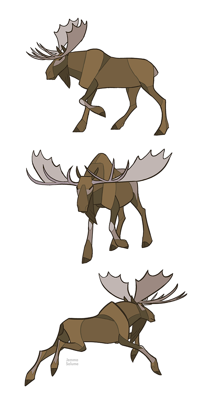 Studies - Moose by *oxboxer