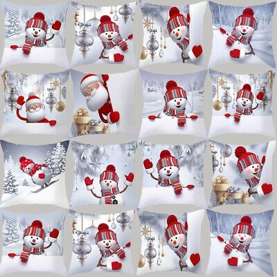 1pcs Christmas Snowman Pillowcases Cushion Cover Sofa Home Decor Pillow Covers #fashion #home #garden #homedcor #pillows (ebay link)