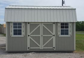 12'x16' Side Lofted Barn storage shed, portable building ...