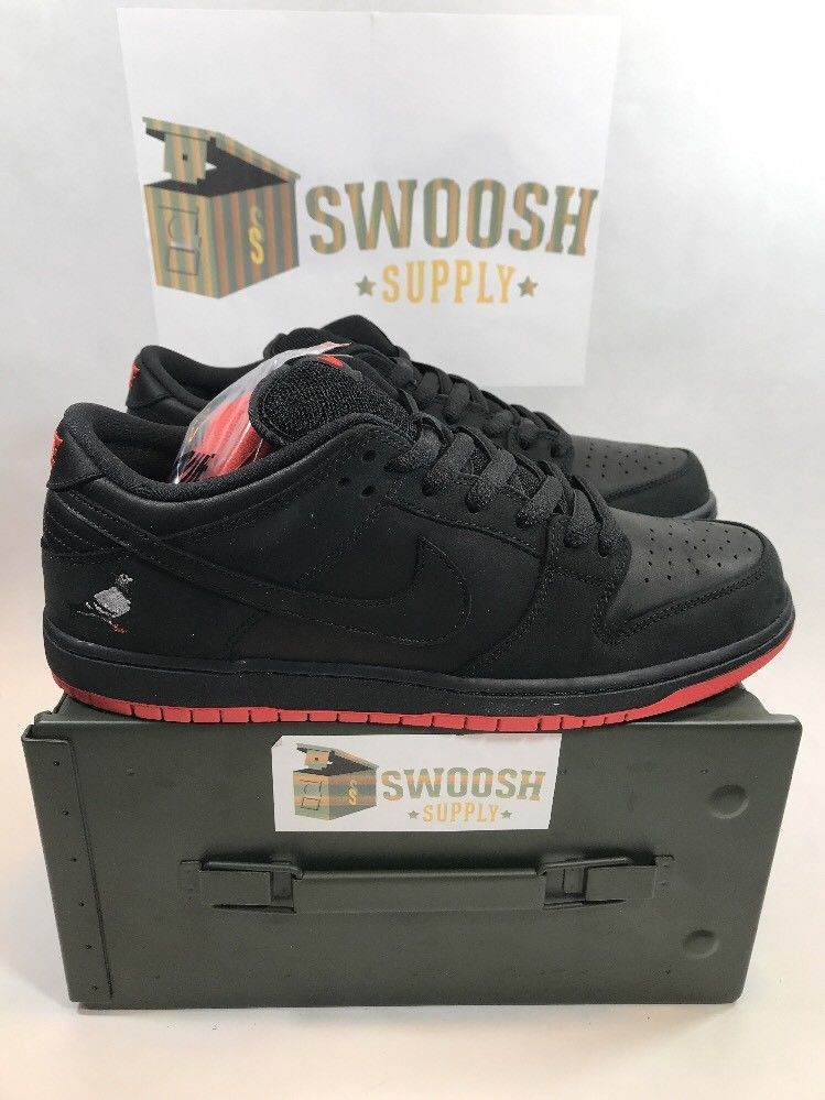 Nike SB Dunk Low TRD QS Jeff Staple Pigeon Black Mens Sizes Skateboarding