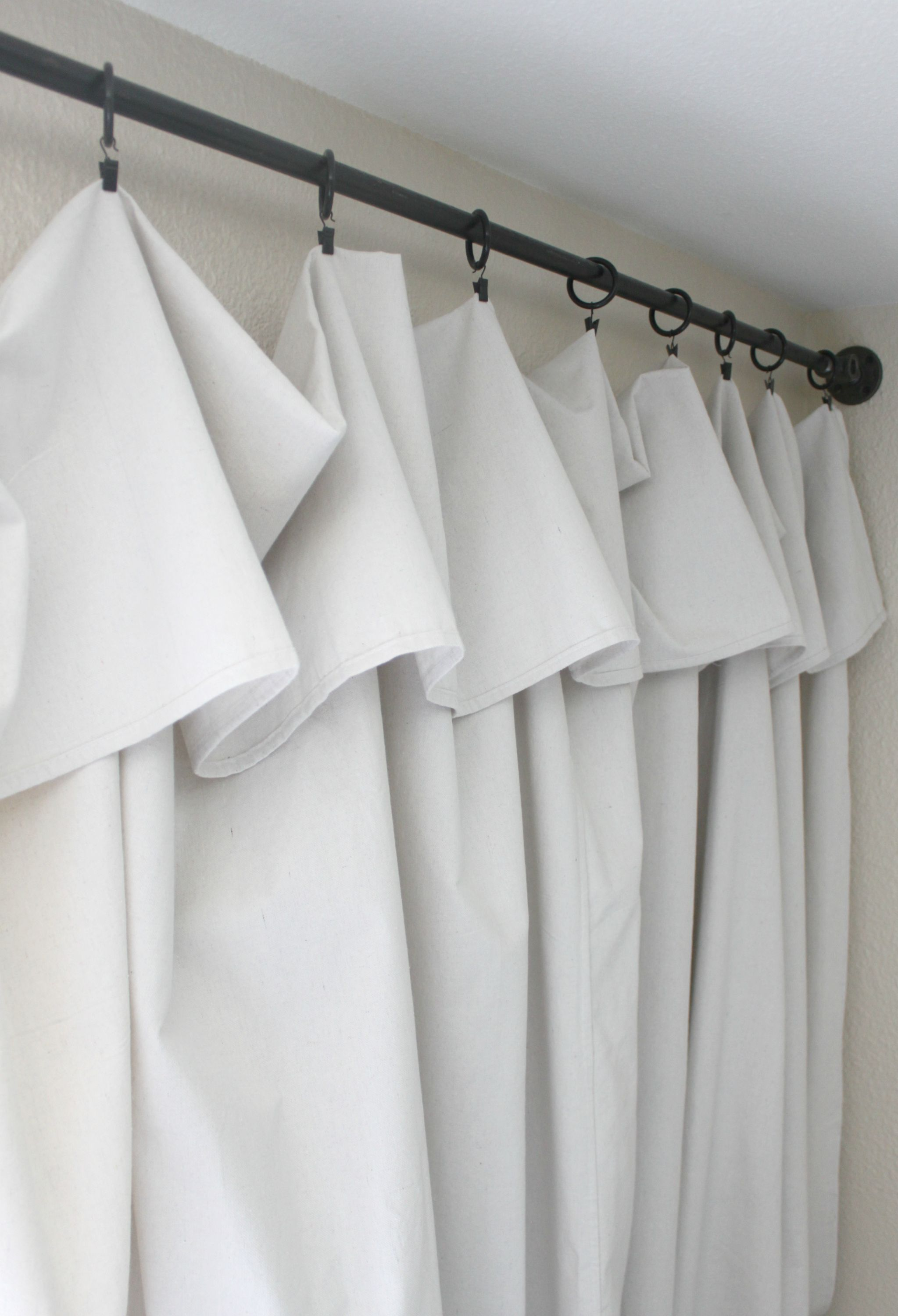 These No Sew Canvas Drop Cloth Curtains Will Be The Easiest