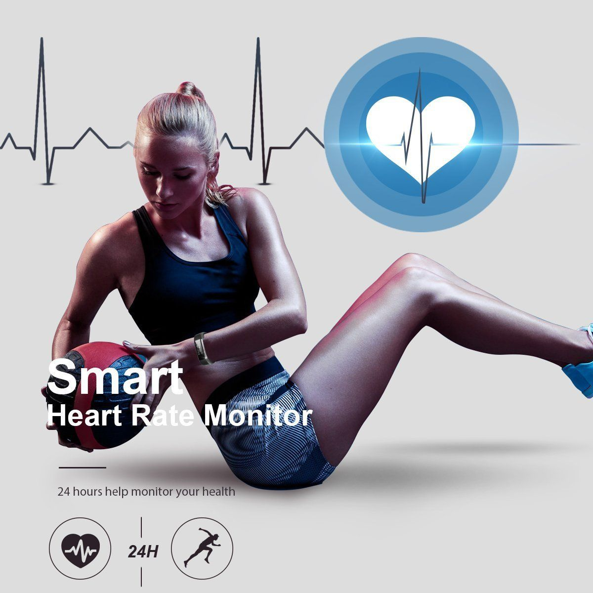 Fitness tracker waterproof activity tracker heart rate