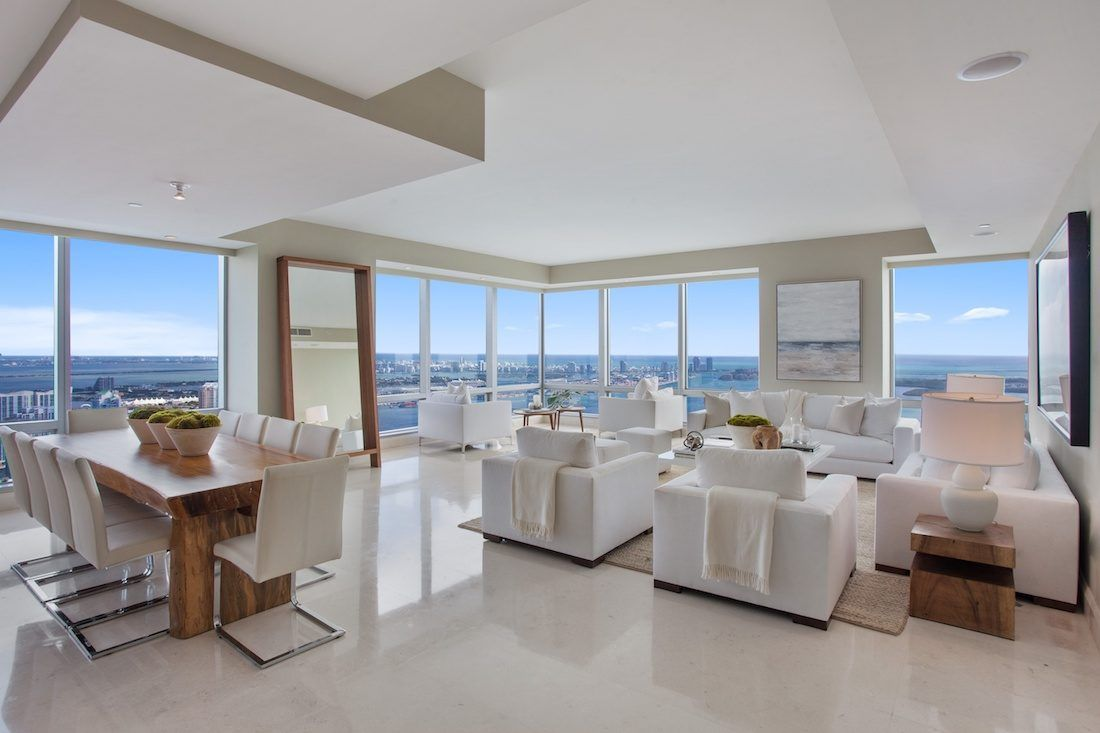 Four Seasons Penthouse Beach Living Room Home Staging Companies
