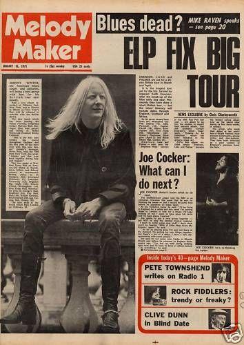 Black Sabbath/The Who/ELP-Melody Maker Magazine 1971