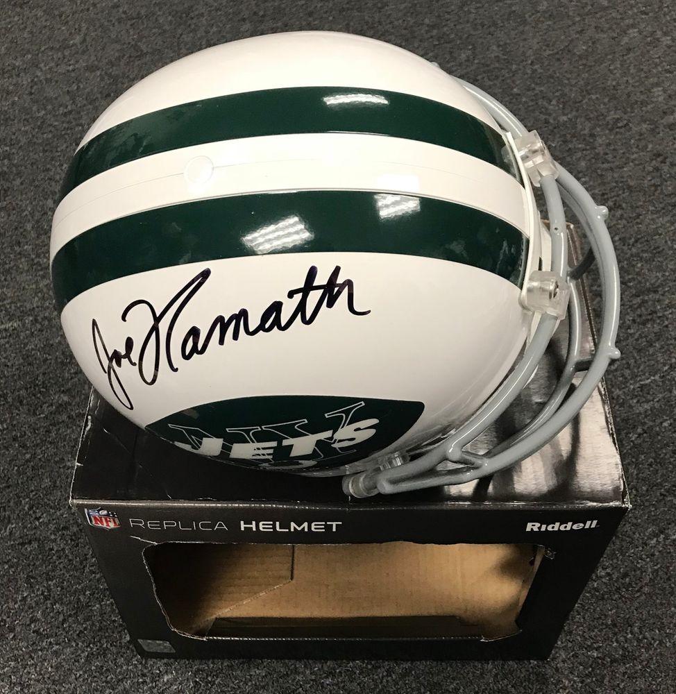 Joe Namath Signed Full Size NY Jets Replica Helmet Autographed GTSM  Hologram HOF b83ca639b