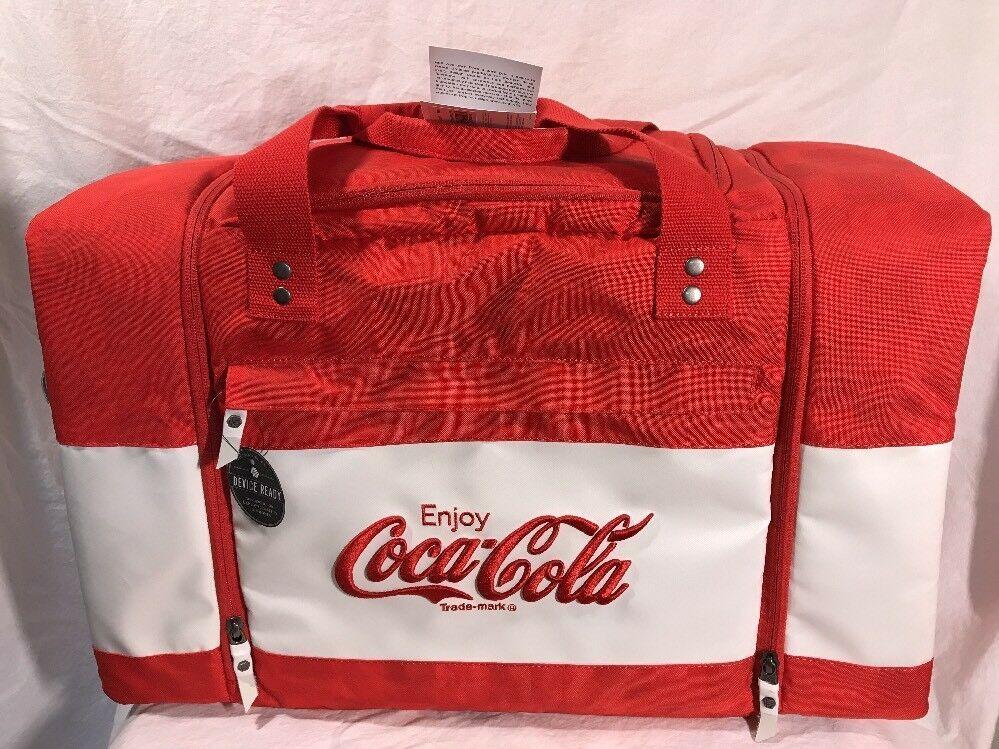 9809ec5d61d4 HEX Red Coca Cola Logo Travel duffle bag (sneaker bag) NWT | Gordon ...