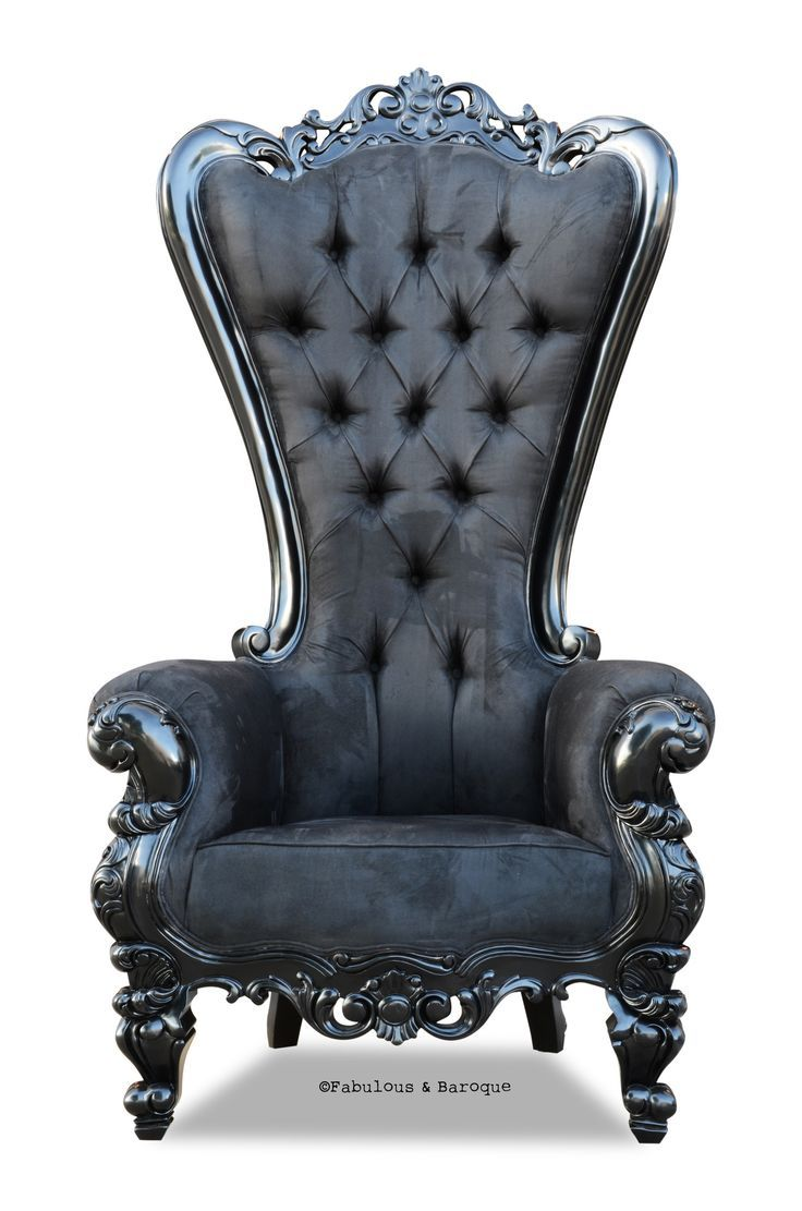 Absolom Roche Chair Black Faux Suede High Back Chairs Baroque