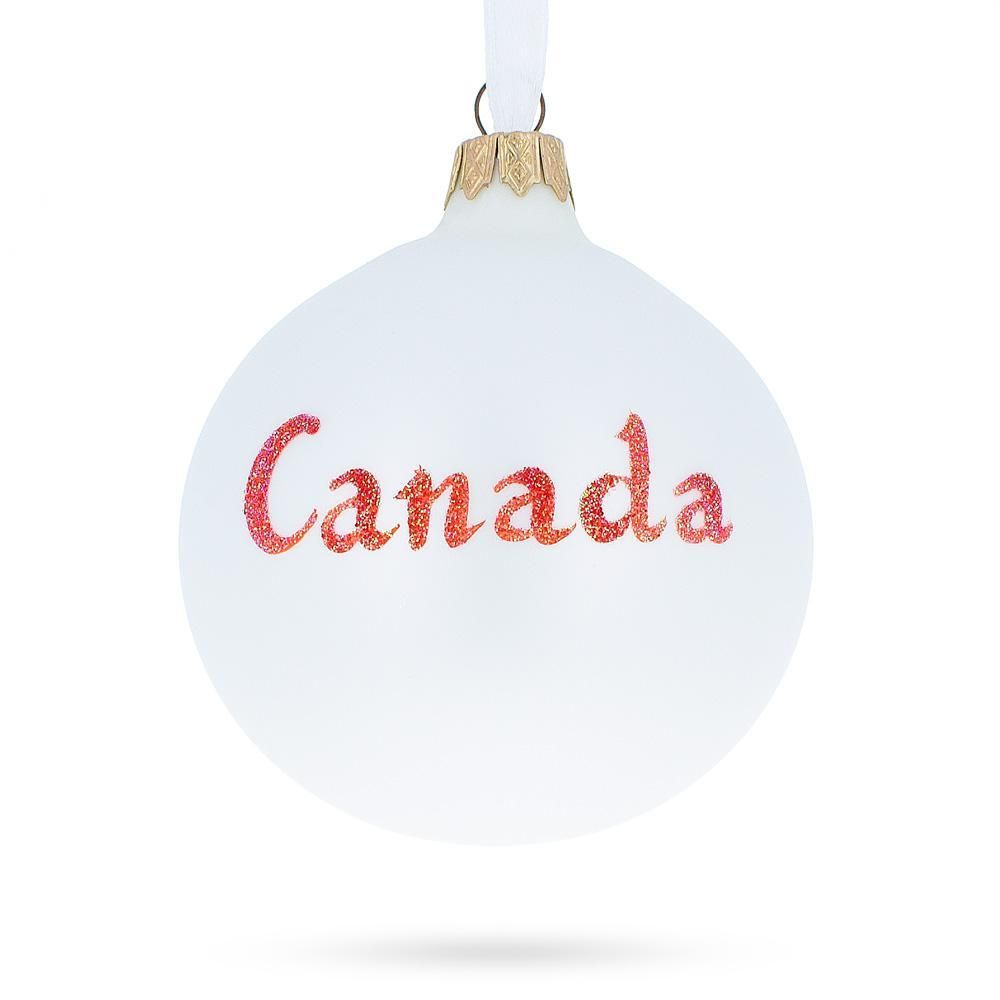 Canadian Coat Of Arms Glass Ball Christmas Ornament Christmas Ornaments Glass Christmas Ornaments Glass Ball
