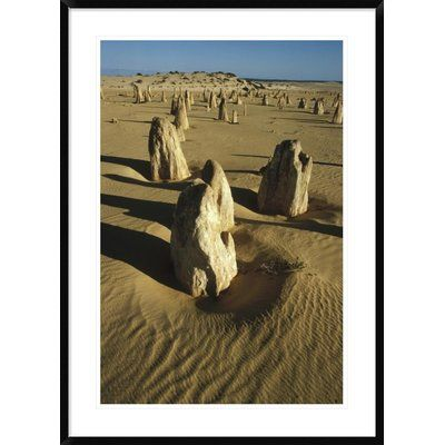 "Global Gallery 'Pinnacle Formations' Framed Photographic Print Size: 42"" H x 30"" W x 1.5"" D"