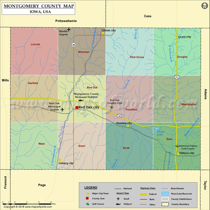 Montgomery County Map for free download | World information