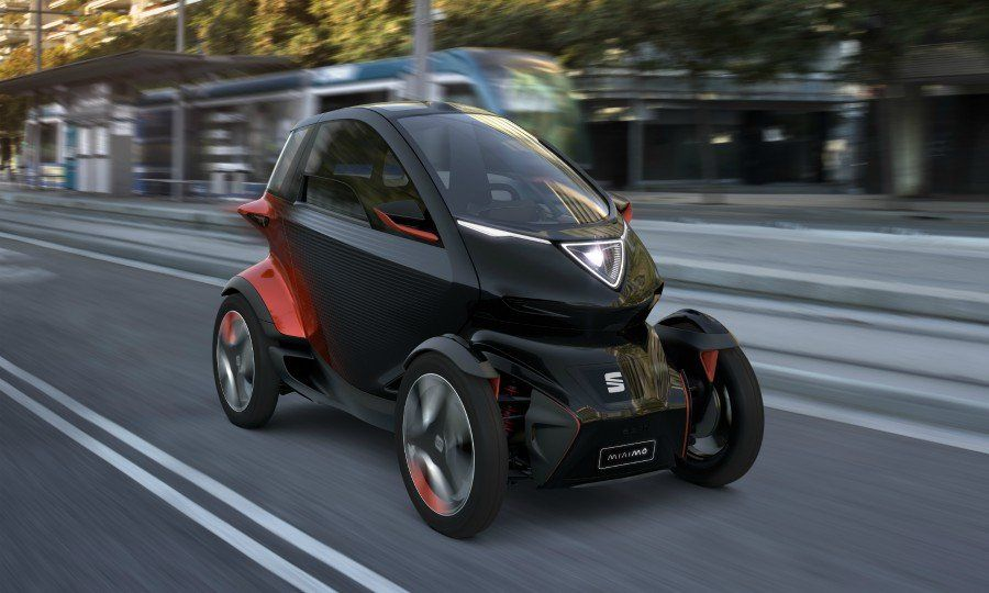 volkswagen brand seat s motorcycle like minimo concept challenges renault twizy concept cars renault city vehicles minimo concept challenges renault twizy