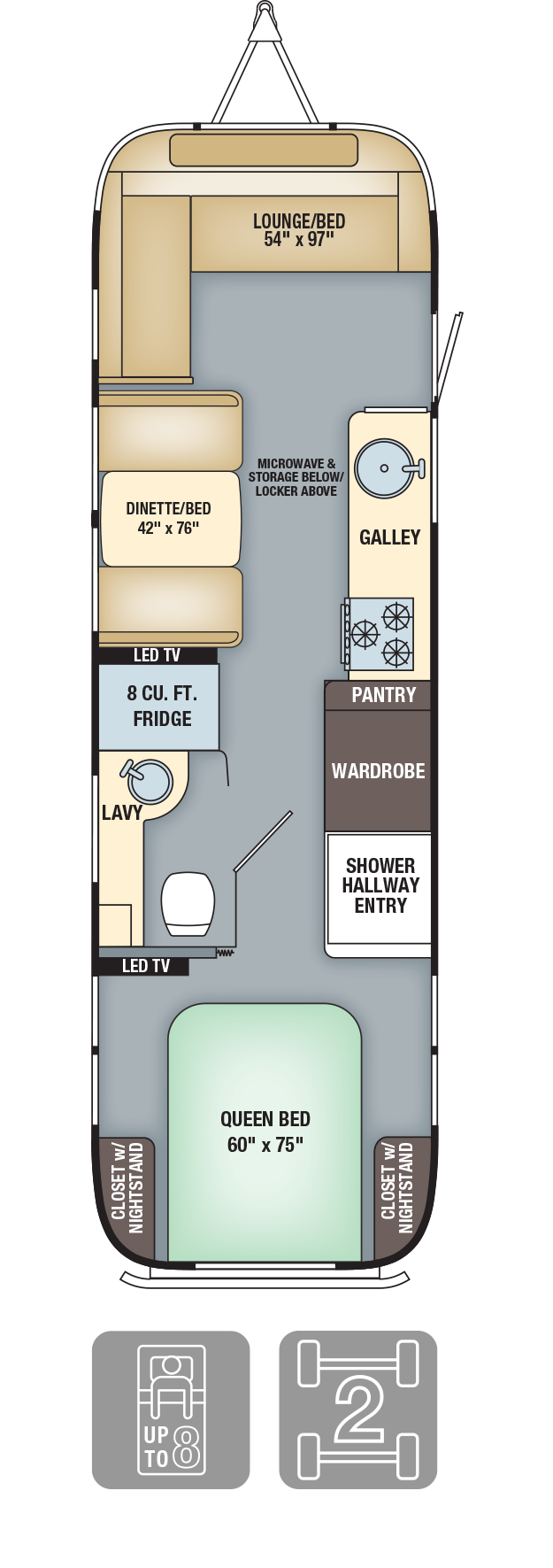 Floor Plans Flying Cloud Travel Trailers Airstream Remodeled Campers Airstream Interior Airstream