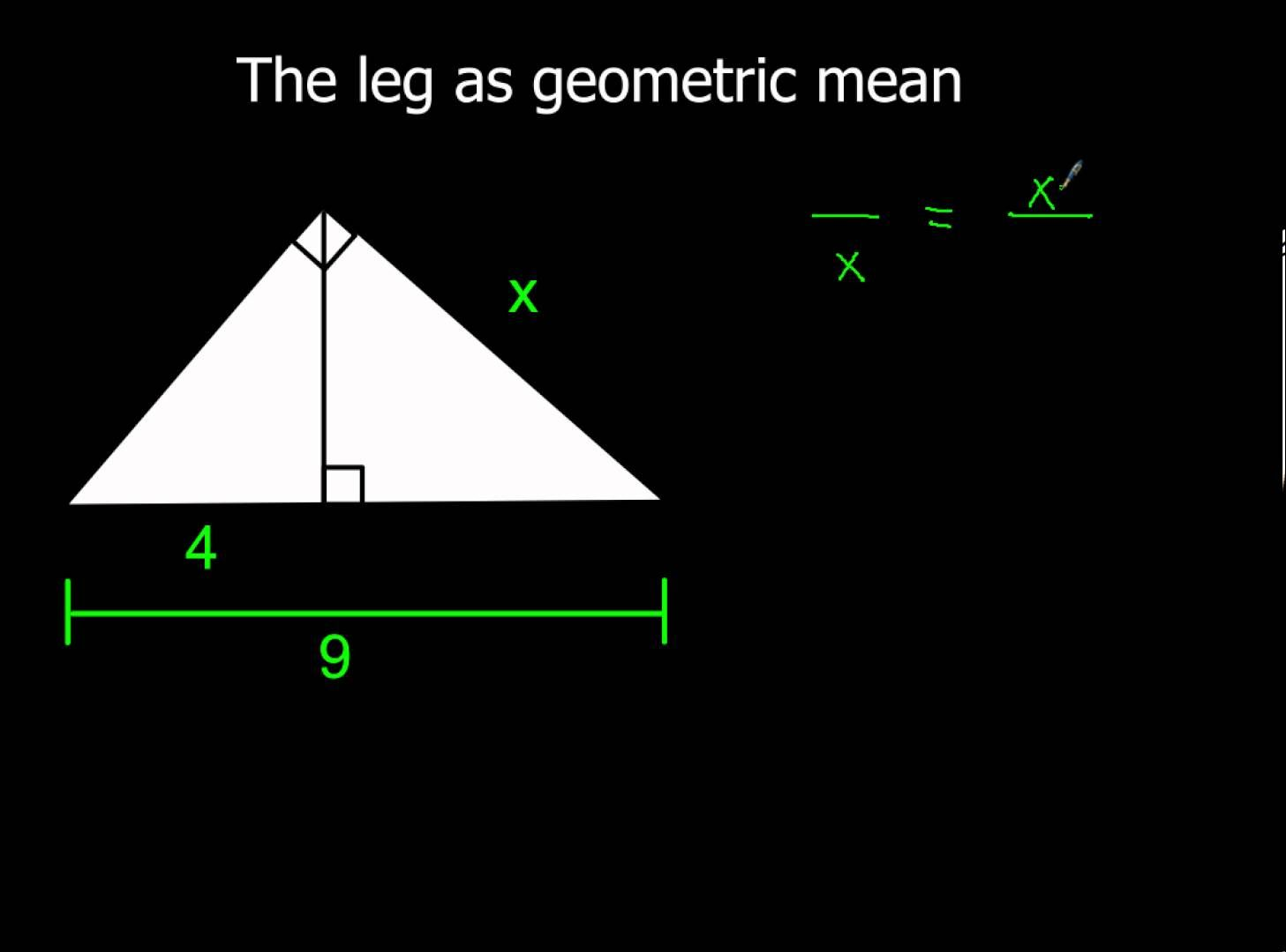 7 3 Using Similar Right Triangles More Examples Of Leg As