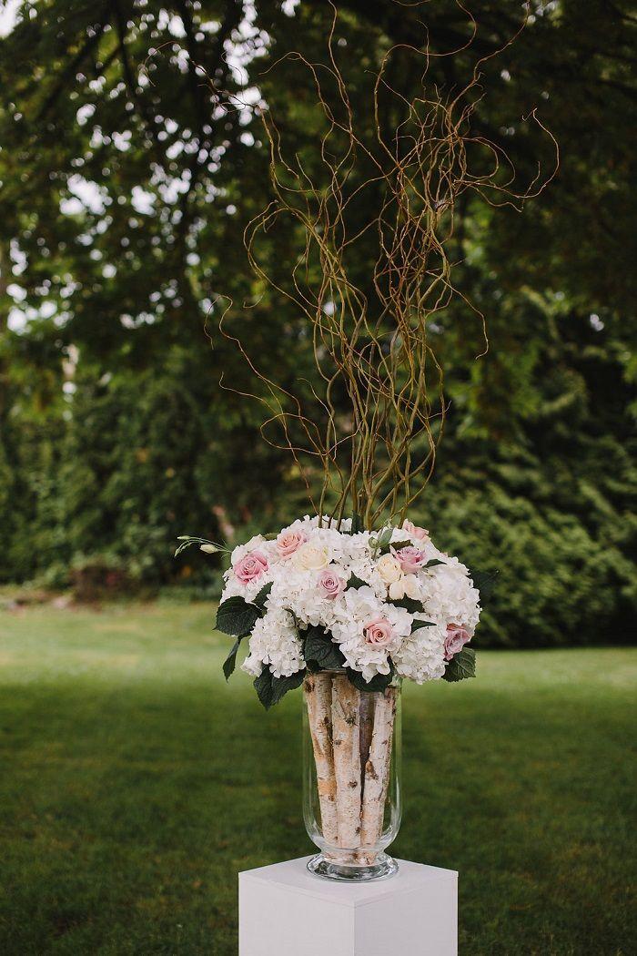 blush and white Garden wedding ceremony decoration   fabmood.com