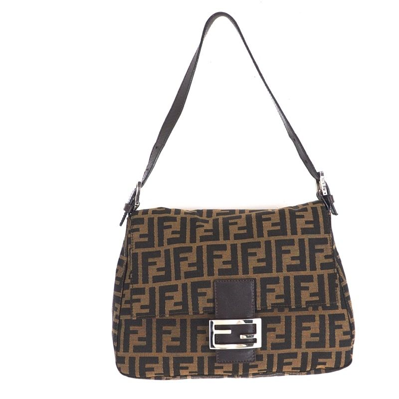 Vintage Fendi Zucca Pattern Mamma Baguette Hand Bag Fendi Bags Bags Fendi