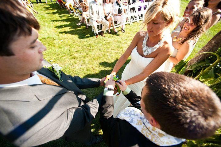 Hand binding wedding tradition