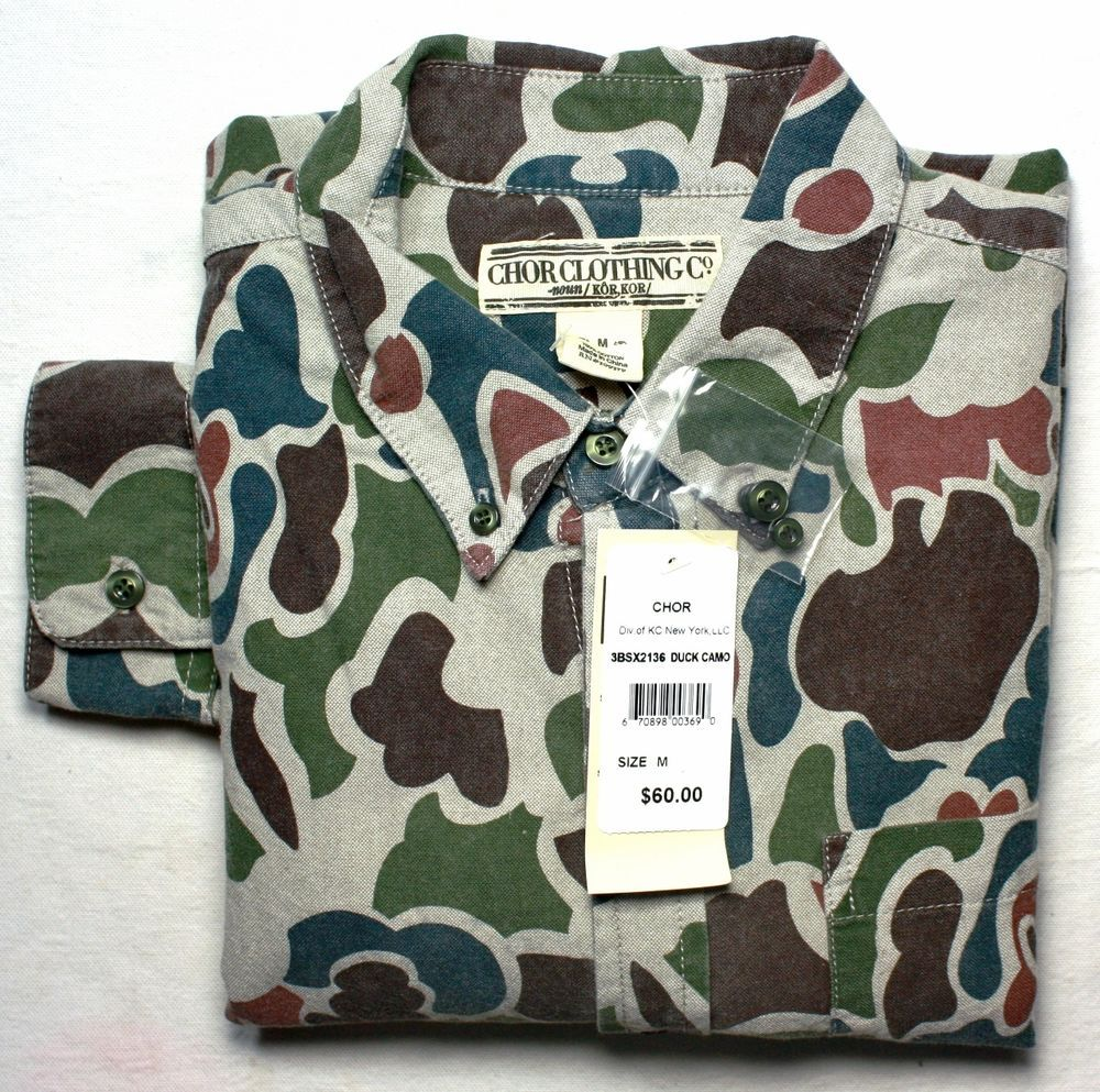 Men's Chor 100% Cotton Long Sleeve Duct Camoflage Hunting Shirt #CHORClothingCo #ButtonFront