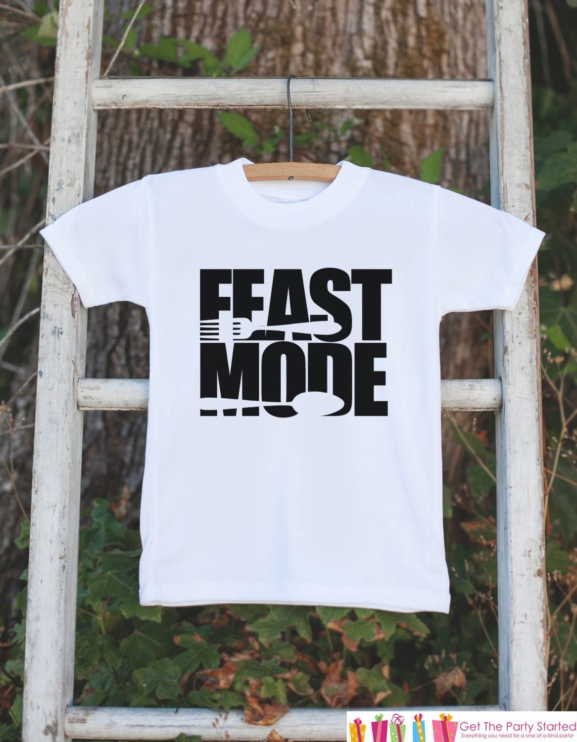Feast Mode Outfit , Kids Thanksgiving Dinner Tshirt or