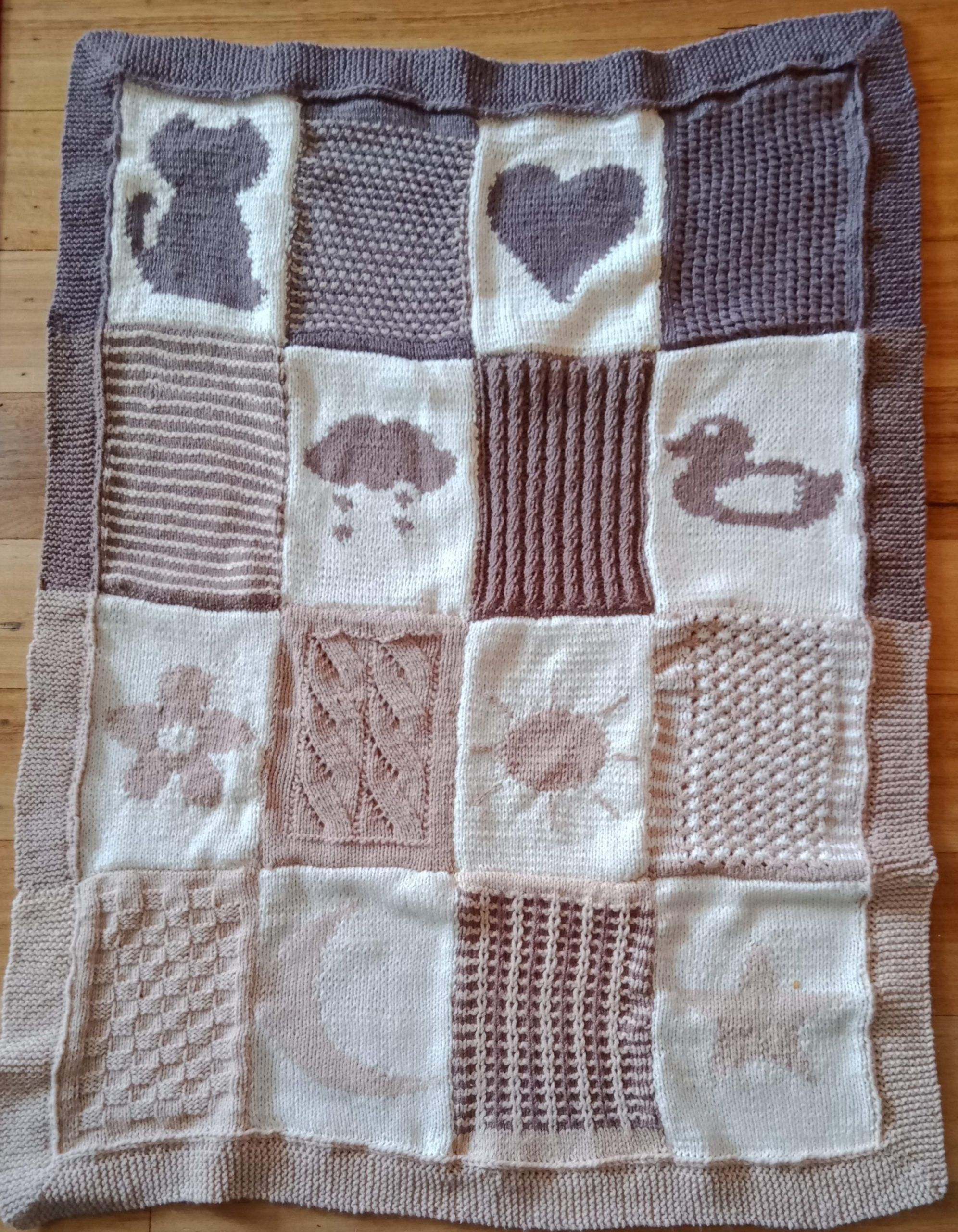 Easy Baby Blanket - Knit-along - The last part! - Seaming ...