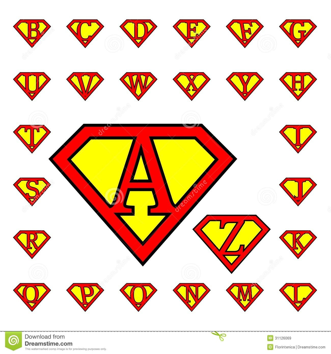 superman alphabet letters template google search super heroes