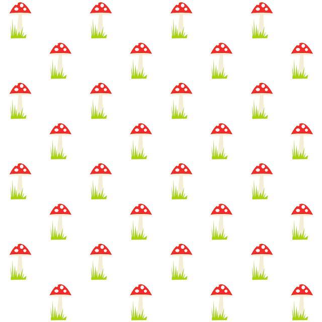 Free digital mushroom scrapbooking paper - ausdruckbares Geschenkpapier - freebie