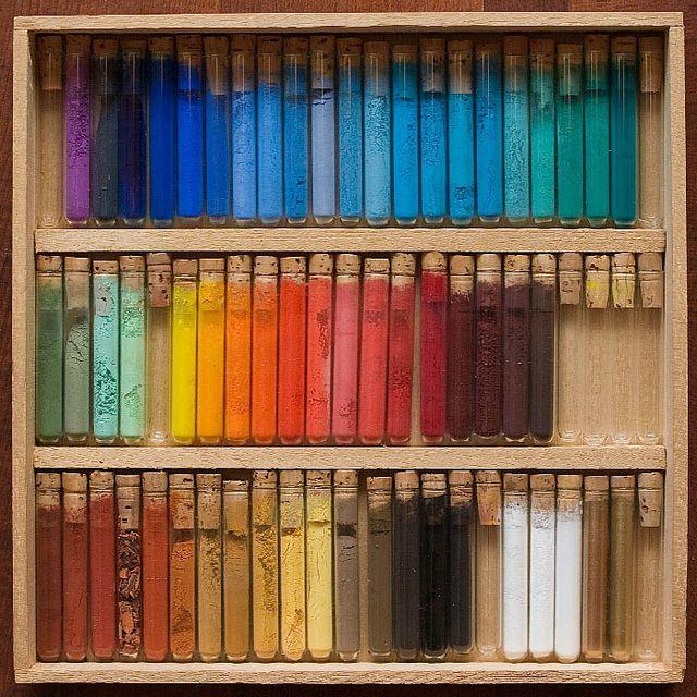 60 Pigments. #coloreveryday