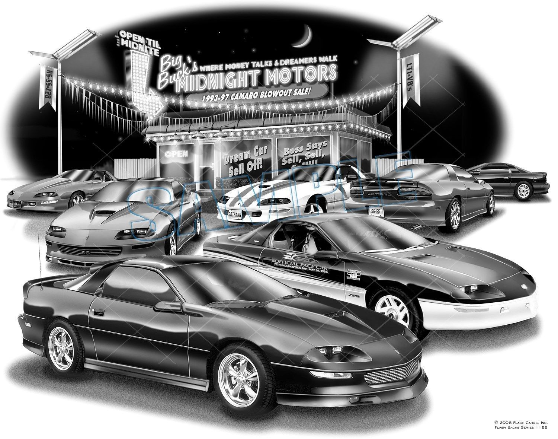CAMARO 93,94,95,96,97 MUSCLE CAR AUTO ART PRINT #1122 \