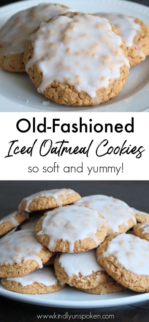 These Iced Oatmeal Cookies really are the best oatmeal cookies Theyre soft chewy packed with an incredible flavor combo of cinnamon nutmeg and brown sugar and topped with...