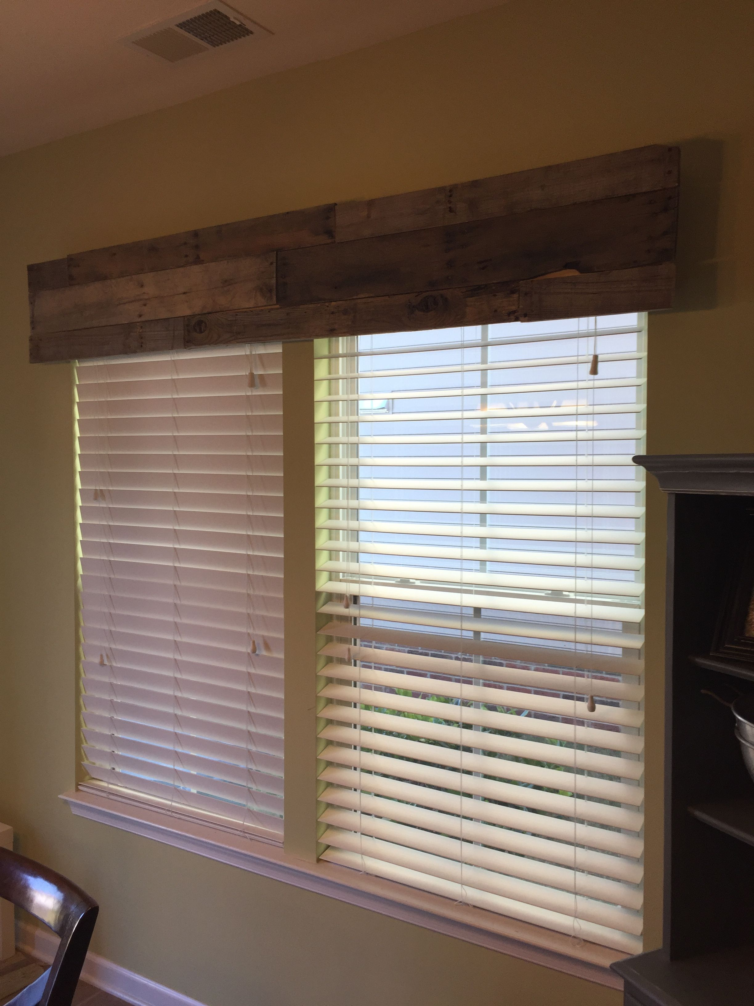 Pallet valance rustic chic pinterest valance pallets and window
