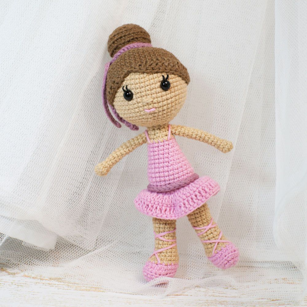 Crochet this pretty in pink ballerina doll amigurumi to make a ...
