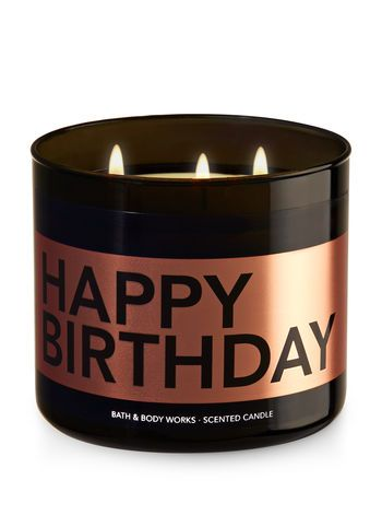 Happy Birthday Buttercream Icing 3 Wick Candle Bath