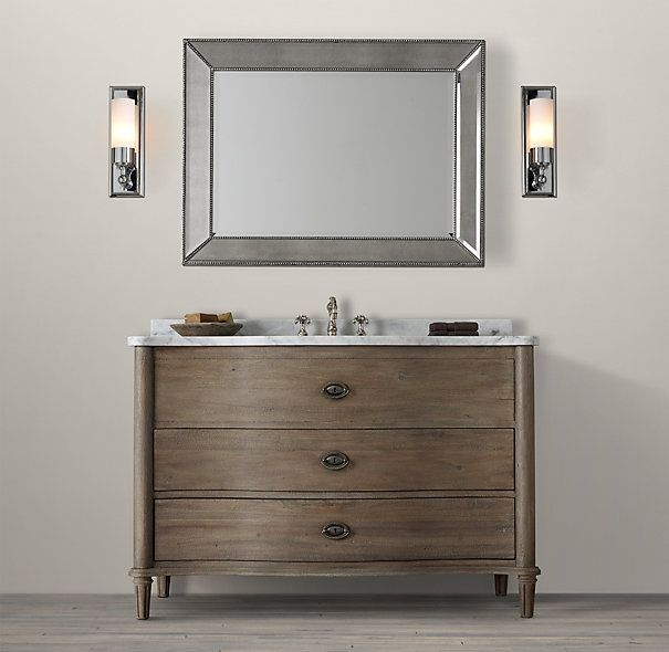 Restoration Hardware Empire Rosette: Empire Rosette Single Extra-Wide Vanity