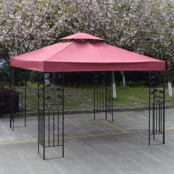 10 X 10 Gazebo Top Cover Patio Canopy Replacement Double Roof This Intelligently Designed Gazebo Replacement Canopy Gazebo Canopy Patio Canopy Patio Gazebo
