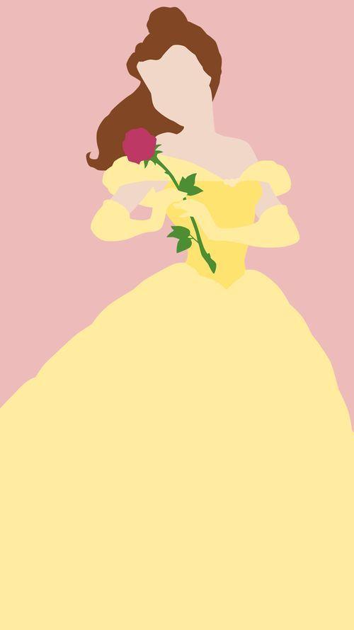Belle Minimalist Poster Click Here To Download Belle Wallpapers Disney Minimalist Disney Princess Wallpaper Disney Paintings
