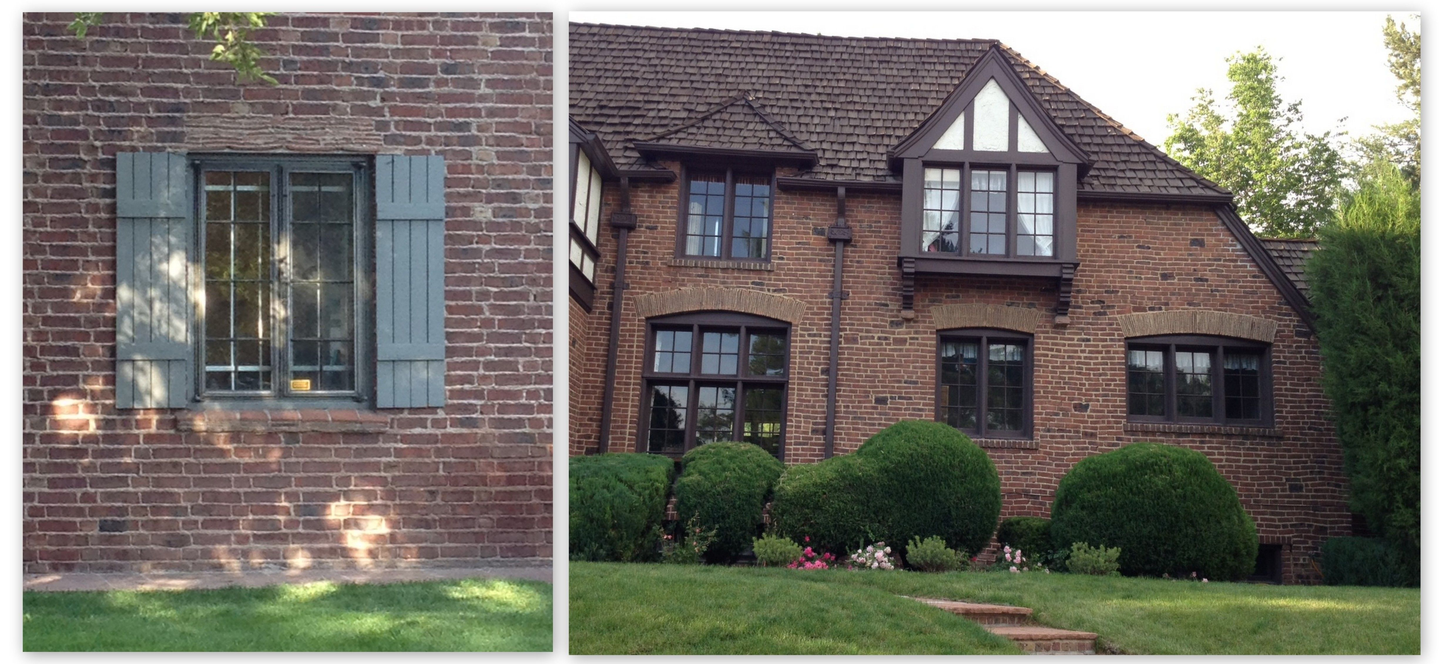 Best Red Brick House Brown Trim Chelowry Renovation Exterior 400 x 300