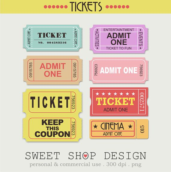 Tickets Clip Art Free Clip Art Movie Clipart