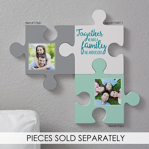 Personalized Family Quotes Wall Puzzle Pieces 17697 Wall Puzzle Family Wall Quotes Puzzle Picture Frame