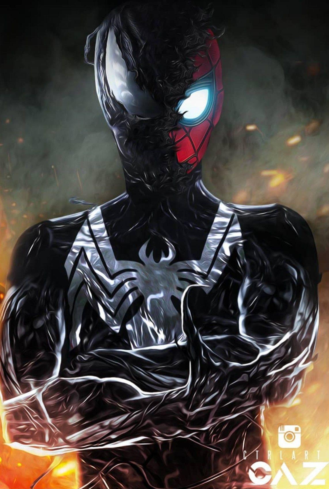 UCM: Black Suit Spider-Man | Marvel heroes, Venom ...