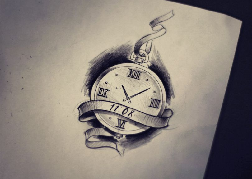 clock draw rel243gios tattoos tattoo sketches e clock