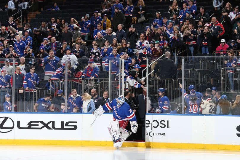 New York Ny December 27 Fans Watch As Henrik Lundqvist 30 Of