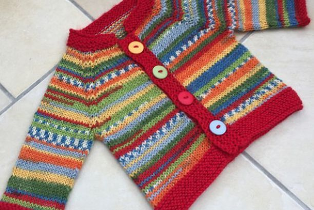 Fuss Free Baby Cardigan - Free Pattern (Beautiful Skills - Crochet Knitting Quilting) #håndarbejde