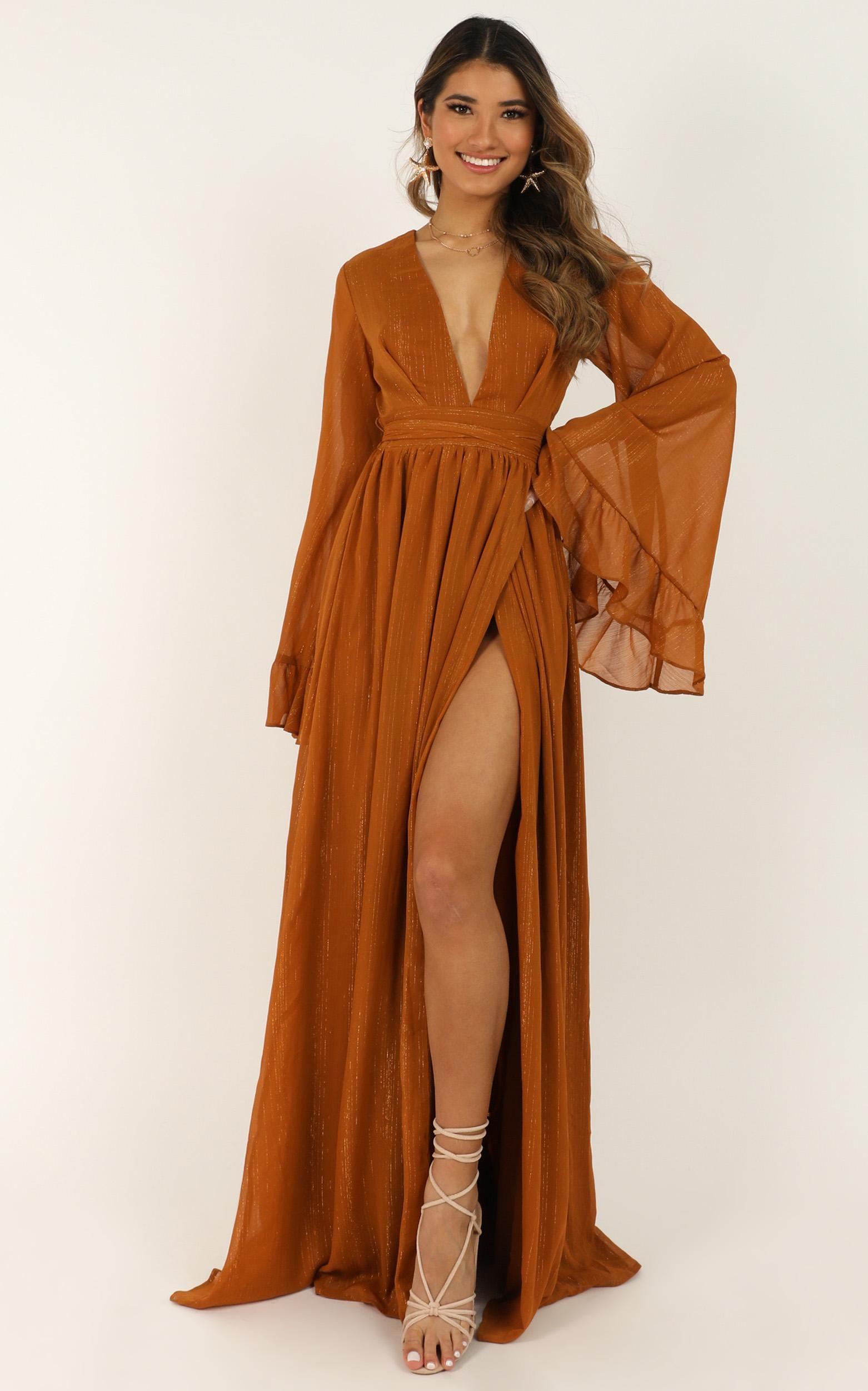 Dangerous Woman Dress In Rust Produced in 2020 | Womens