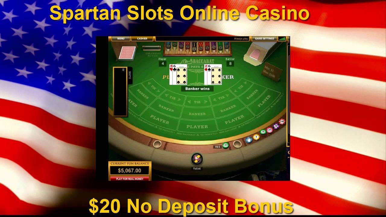 Mini Baccarat & 20 No Deposit Spartan Slots Casino Bonus
