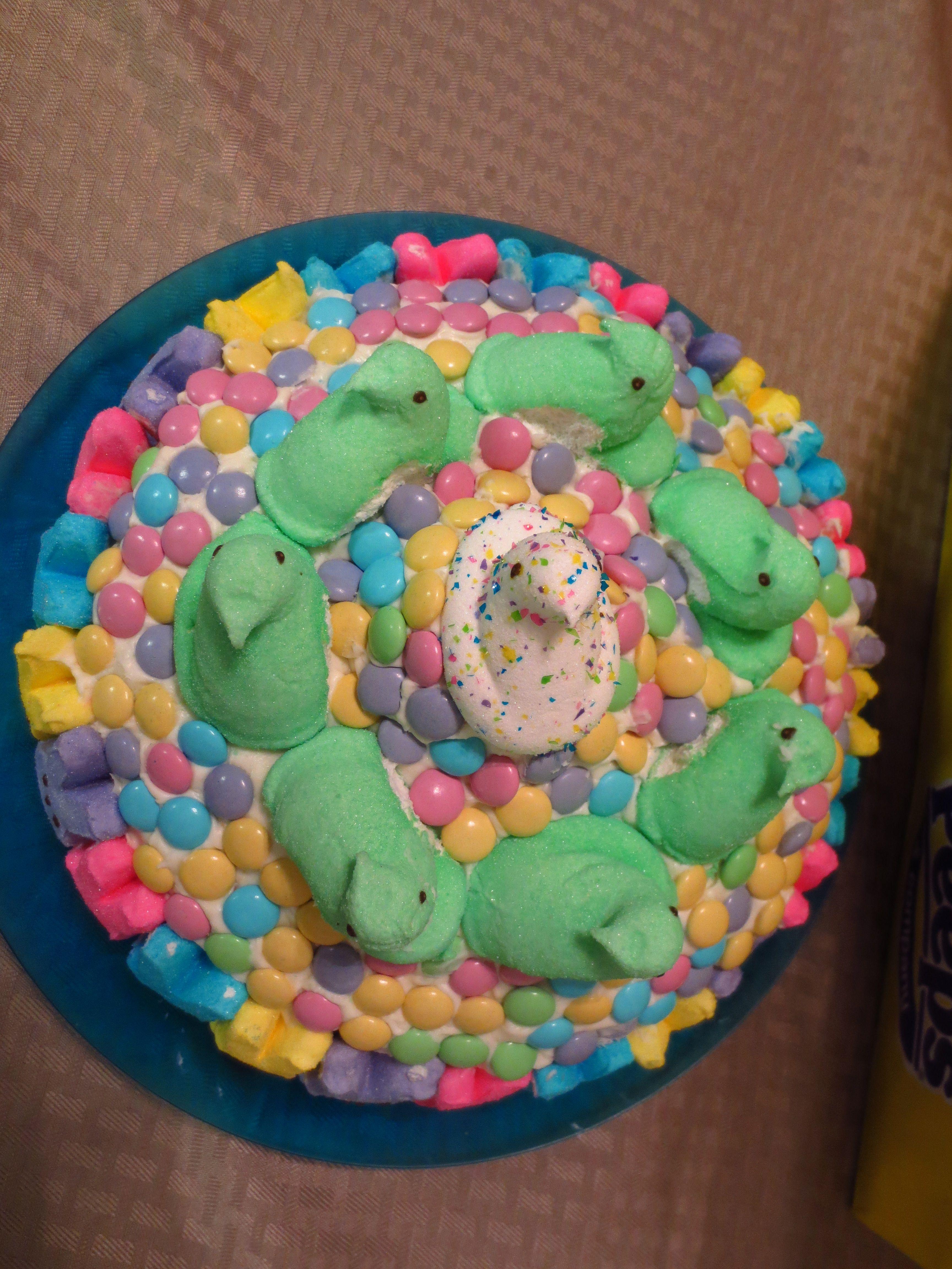 top view of my peep cake :)
