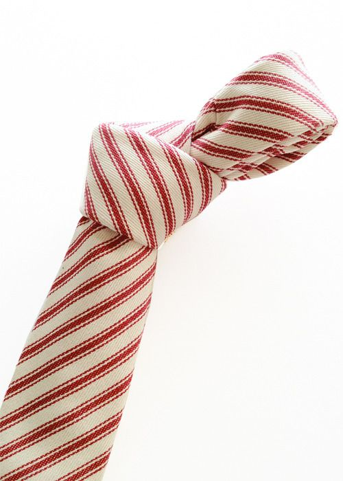 Richmond Thread Lab — red cotton stripes tie