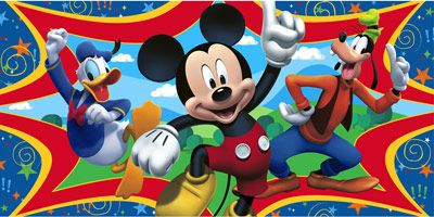Mickey Mouse Plastic Wall Mural Backdrop Mickey mouse Wall murals