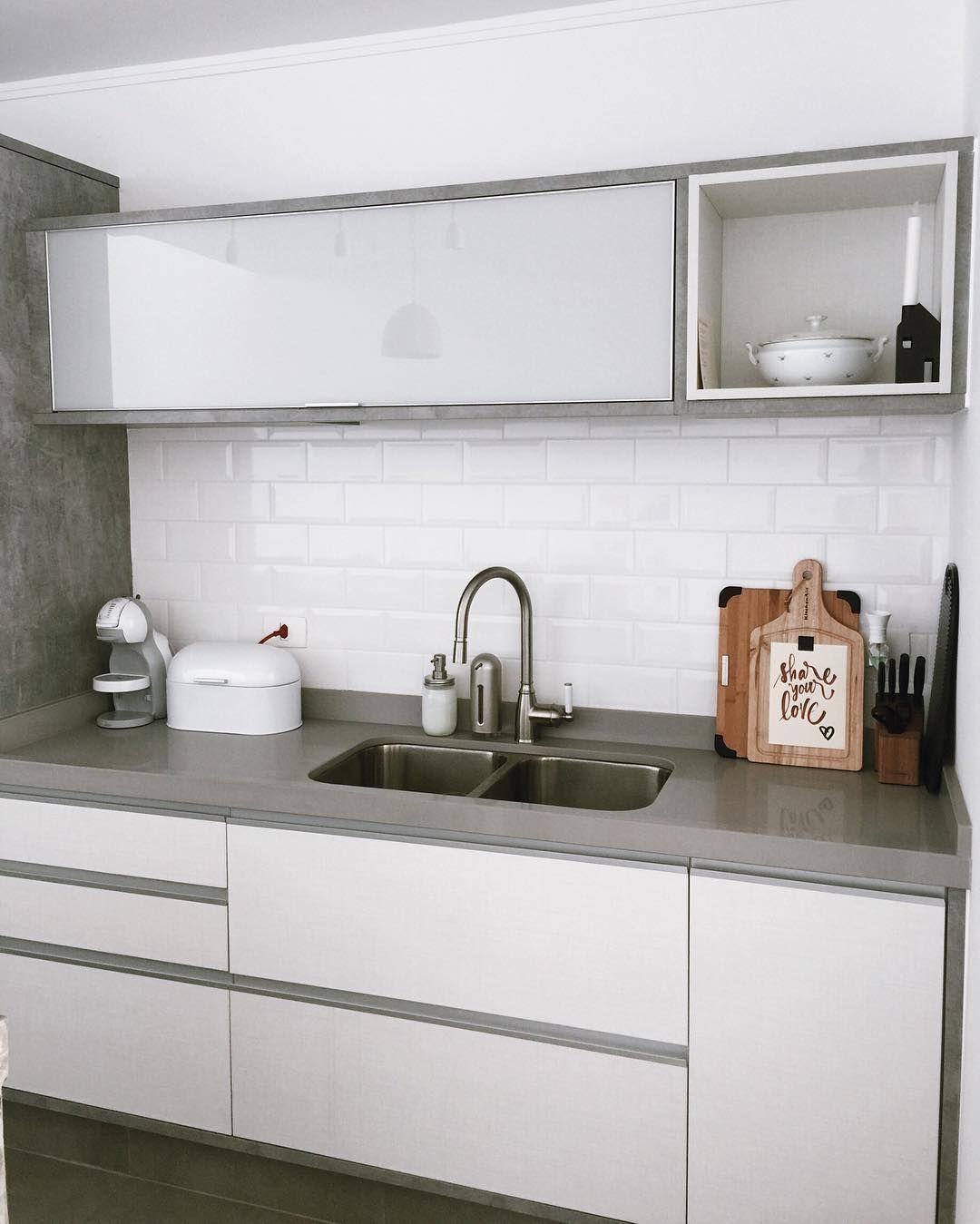 Cozinha - área da pia | Cozinha alvenaria | Pinterest