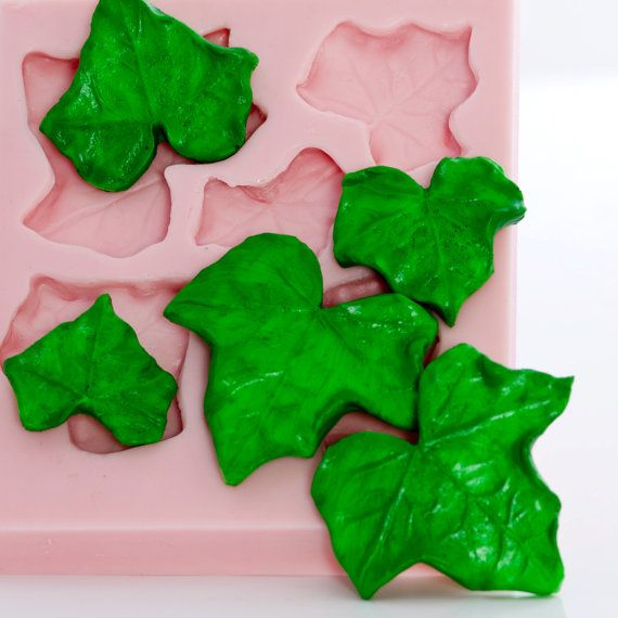 Ivy Leaf Mold Fondant Mold Gum Paste Mold Candy Mould Etsy Mint Molds Candy Molds Silicone Fondant Molds