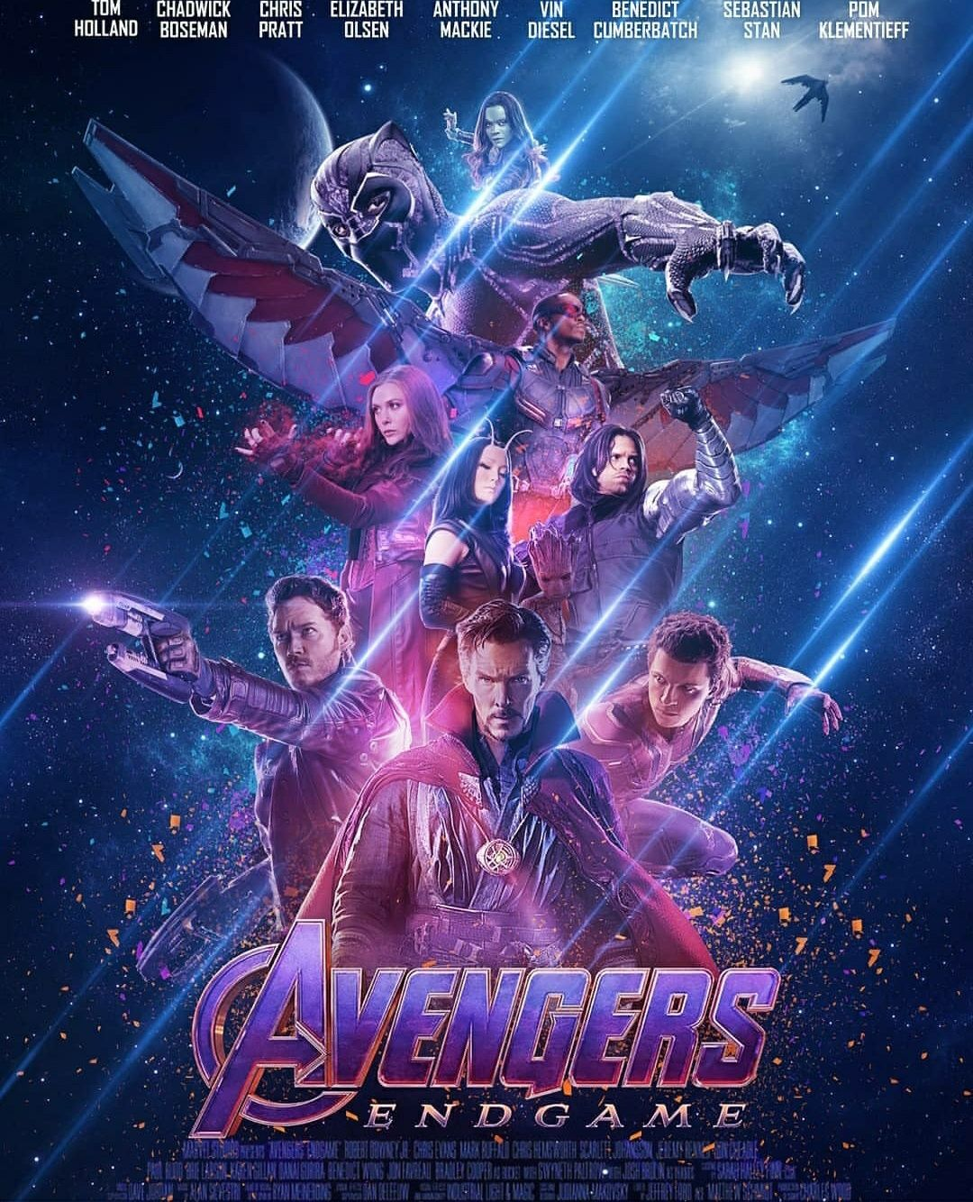 Avengers Endgame Poster With All The Dusted Characters By