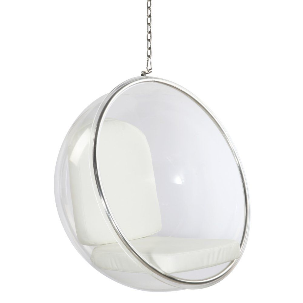 Gentil Amazon.com: Bubble Hanging Chair With Polished Chrome Base In Clear:  Kitchen U0026 Dining